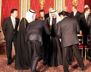 Obama Bowing to the Head of Islam