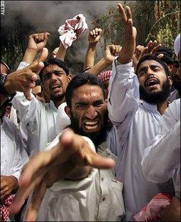 Wild donkey Muslim men